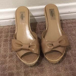 Valentino wedge bow sandals